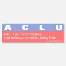 Anti-ACLU Bumper Bumper Bumper Sticker