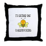 Rather Be Scrapbooking Throw Pillow