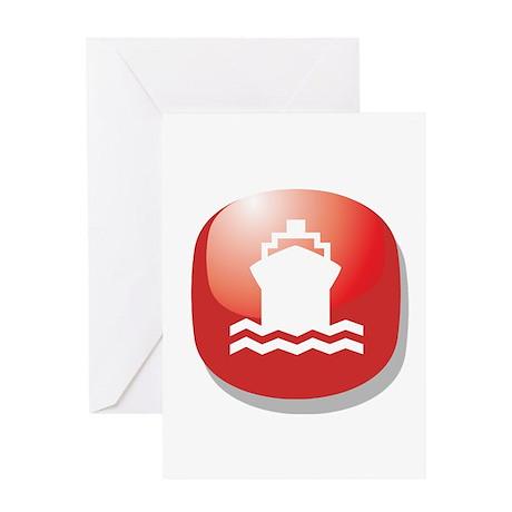 Vacation Cruise Ship Greeting Card