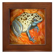 Blue Dart Frog Framed Tile