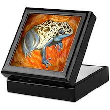Blue Dart Frog Keepsake Box