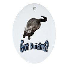 Got Raisins? Blue Keepsake (Oval)