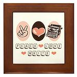 Peace Love Write Writer Framed Tile
