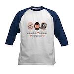 Peace Love Write Writer Kids Baseball Jersey