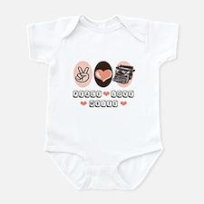 Peace Love Write Writer Infant Bodysuit