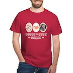 Peace Love Write Writer Dark T-Shirt