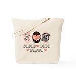 Peace Love Write Writer Tote Bag
