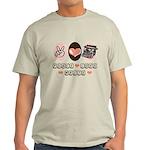 Peace Love Write Writer Light T-Shirt