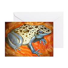 Blue Dart Frog Greeting Cards (Pk of 10)
