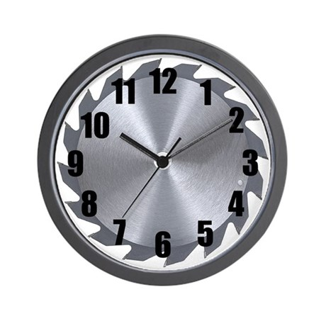 Circular Saw Wall Clock
