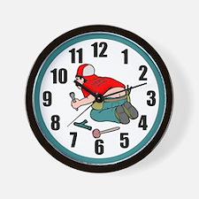 Funny Plumber Wall Clock