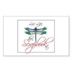 Live Life, Scrapbook It Rectangle Decal