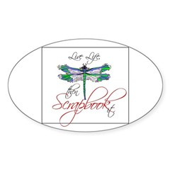 Live Life, Scrapbook It Oval Decal