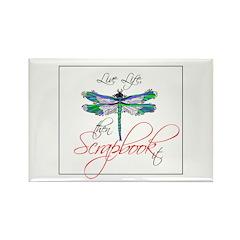 Live Life, Scrapbook It Rectangle Magnet (100 pack