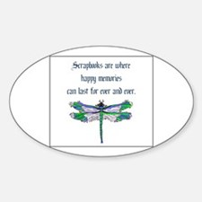Scrapbooks - Memories Forever Oval Decal