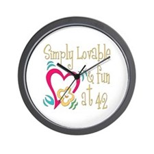 Lovable 42nd Wall Clock