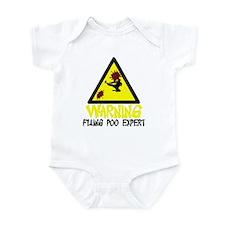 Warning Flung Poo Infant Bodysuit