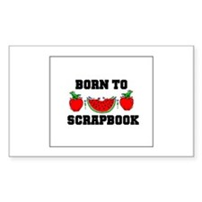 Born To Scrapbook Rectangle Decal