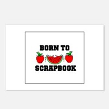 Born To Scrapbook Postcards (Package of 8)