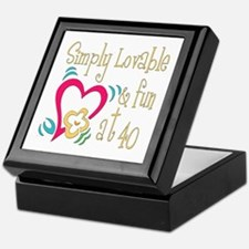 Lovable 40th Keepsake Box