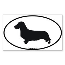 Wirehaired Dachshund Rectangle Decal