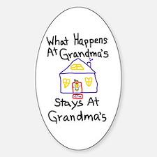 Grandma's House Oval Bumper Stickers