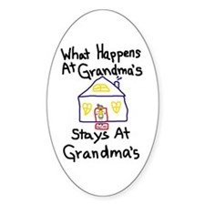 Grandma's House Oval Decal