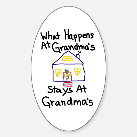 Grandma's House Oval Decal