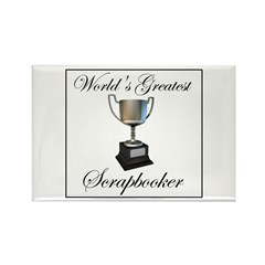 World's Greatest Scrapbooker Rectangle Magnet (10
