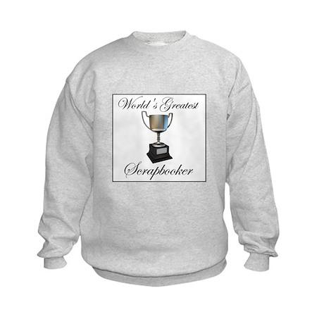 World's Greatest Scrapbooker Kids Sweatshirt