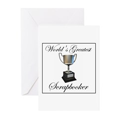 World's Greatest Scrapbooker Greeting Cards (Pk of