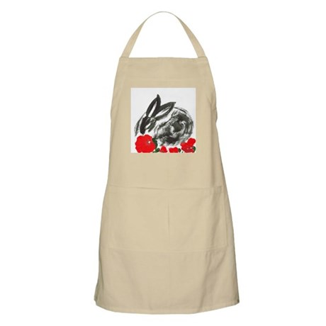 red flower blanket BBQ Apron