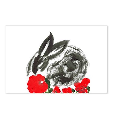 red flower blanket Postcards (Package of 8)