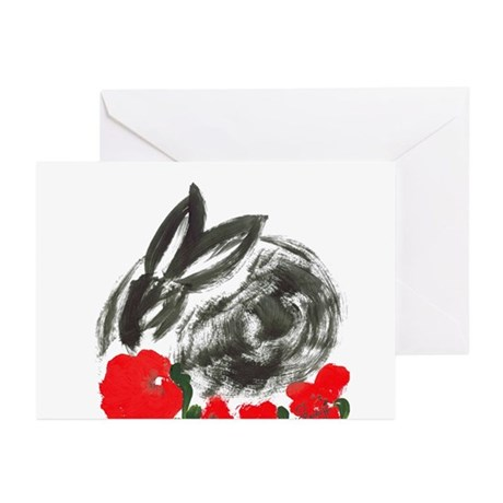red flower blanket Greeting Cards (Pk of 10)