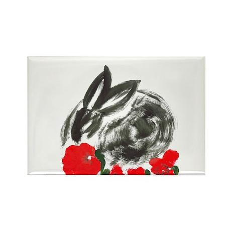 red flower blanket Rectangle Magnet (10 pack)