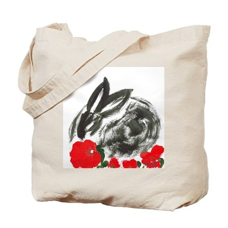 red flower blanket Tote Bag