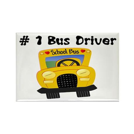 School Bus Driver Rectangle Magnet
