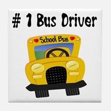 School Bus Driver Tile Coaster