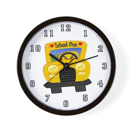 School Bus Wall Clock