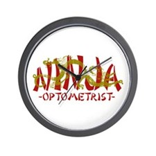 Dragon Ninja Optometrist Wall Clock