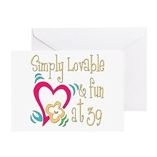 Lovable 39th Greeting Card
