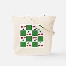 cherryland (green check) Tote Bag