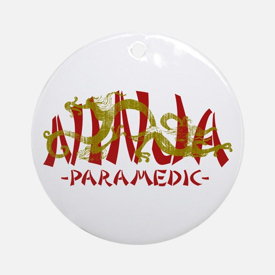 Dragon Ninja Paramedic Ornament (Round)