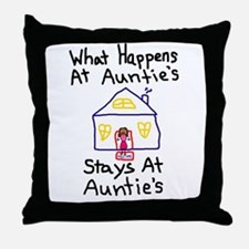 Auntie's House Throw Pillow