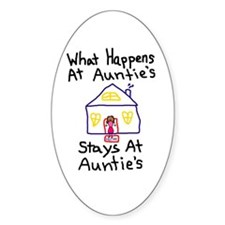 Auntie's House Oval Decal