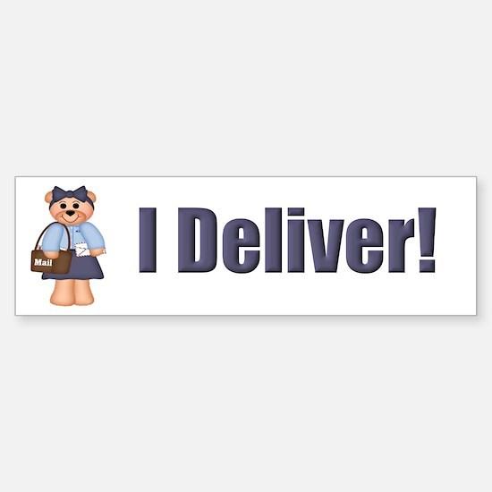 Mail Carrier Bumper Car Car Sticker