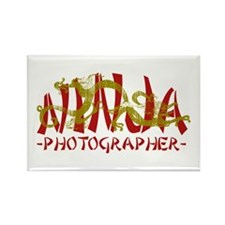 Dragon Ninja Photographer Rectangle Magnet