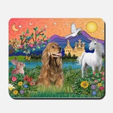 Fantasy Land/Cocker (brn) Mousepad