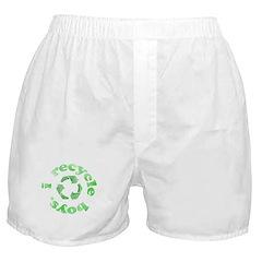 I Recycle Boys Boxer Shorts