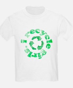 I Recycle Girls T-Shirt